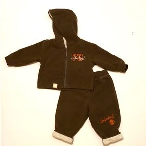 TIMBERLAND Baby Boy's Fleece Hoodie Pants Outfit